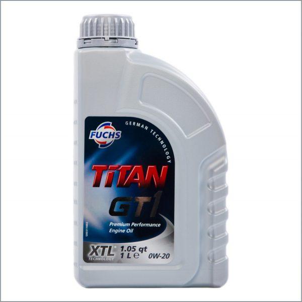 Моторное масло Fuchs Titan GT1 XTL 0W20 1L 1