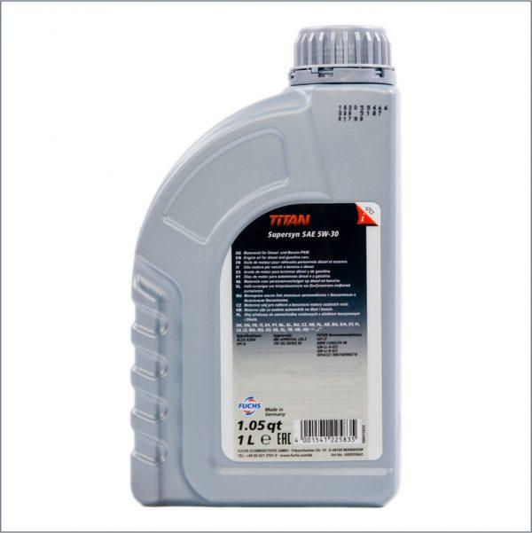 Моторное масло Fuchs Titan SuperSyn 5W30 1L 2
