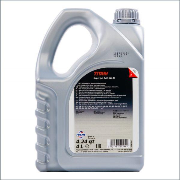 Моторное масло Fuchs Titan SuperSyn 5W30 4L 2