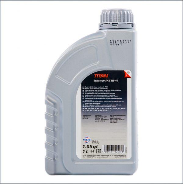 Моторное масло Fuchs Titan SuperSyn 5W40 1L 2