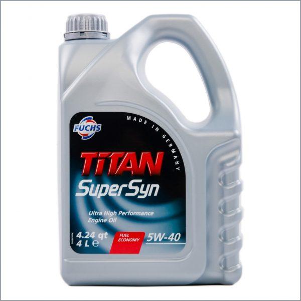 Моторное масло Fuchs Titan SuperSyn 5W40 4L 1