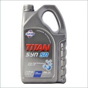 Моторное масло Fuchs Titan Syn SN 0W20 5L 1