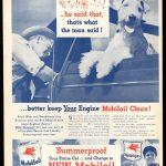 Реклама Mobiloil 1926