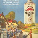 Реклама Mobiloil 1928