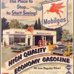 Реклама Mobiloil 1952