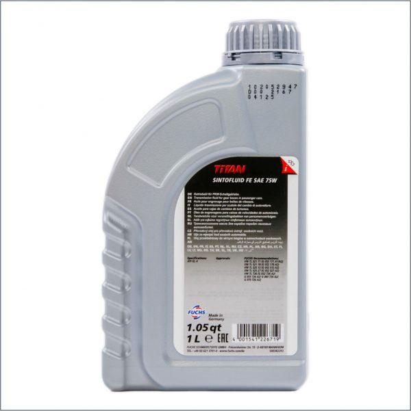 Трансмиссионное масло Fuchs Titan Sintofluid FE SAE 75W 1L 2