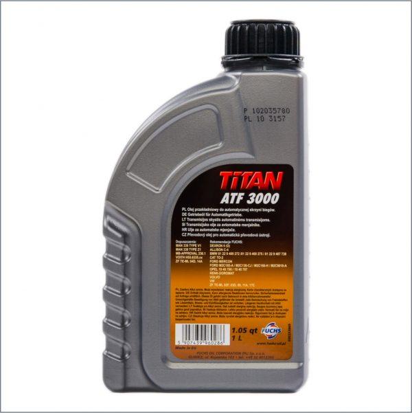 Жидкость для автоматических трансмиссий Fuchs Titan ATF 3000 1L 2