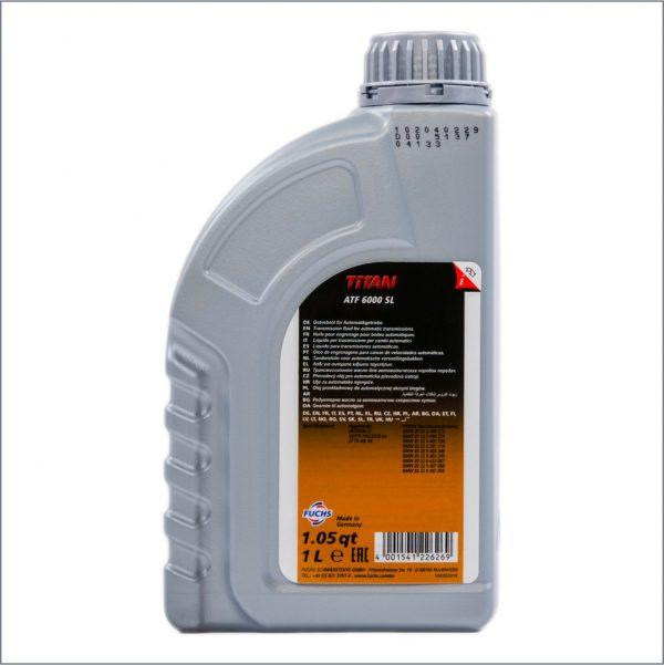 Жидкость для автоматических трансмиссий Fuchs Titan ATF 6000SL 1L 2