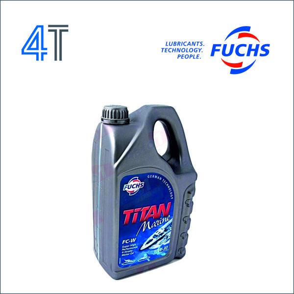 моторное масло fuchs titan marine для четырёхтактных моторов FC-W