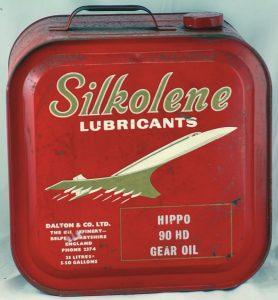Трансмиссионное масло Silkolene Hippo HD-90 с изображением самолета Конкорд