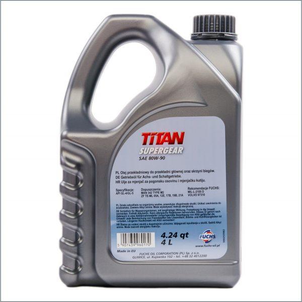 Трансмиссионное масло Fuchs Titan SuperGear 80W-90 4L 2