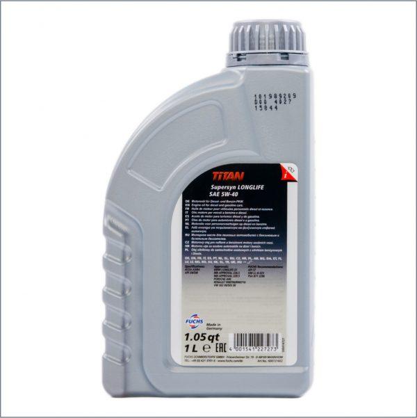 Моторное масло Fuchs Titan SuperSyn Longlife 5W40 1L 2